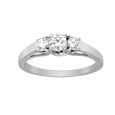 07325ecc3dd59 100% Real Diamond Ring Bezel Cut Diamond Ring 1/6 cttw Lab Grown Diamond  Engagement Rings For Women Lab Created Diamond Rings SI-GH Quality 925S ...