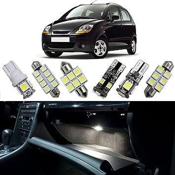 muchkey® LED luz interior para Chevrolet Spark Lova 2010 Aveo Sonic Epica coche Repuesto bombillas Dome Mapa lámpara de luz brillante color blanco: ...