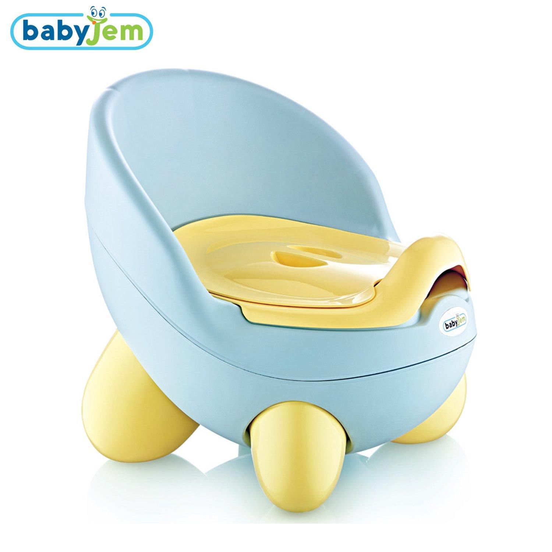 amovible et portable sain et sans BPA Babyjem Bleu B/éb/é Tontons Pot toilette enfant pour lapprentissage de la propret/é confortable et s/écuritaire