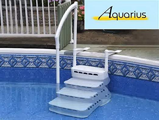 Innovaplas - Escalera para Piscina Acuario (PVC, 4 peldaños, Mano): Amazon.es: Jardín