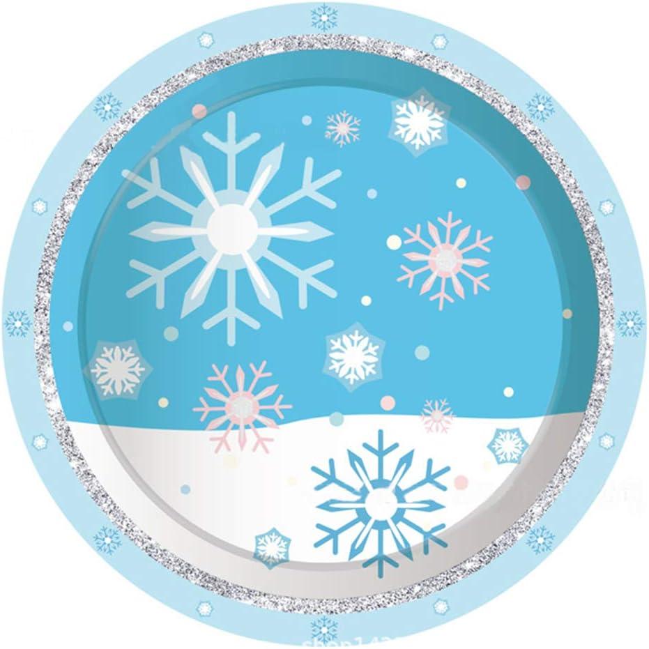 16 x Blue /& White Frozen Snowflakes Paper Napkins Winter Christmas Tableware