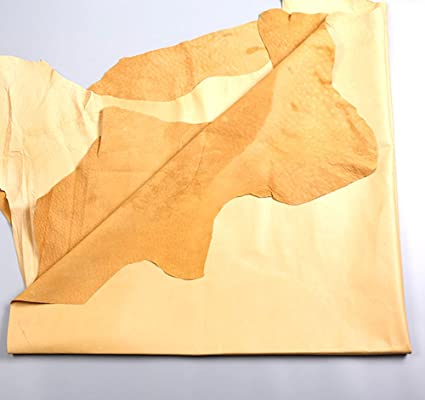 Passion Junetree pig leather hideL pig skin about 7 SF yellow Colors