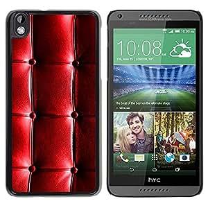 HTC DESIRE 816 , JackGot - Impreso colorido protector duro espalda Funda piel de Shell (Cuero del patrón brillante arrugas arrugada)