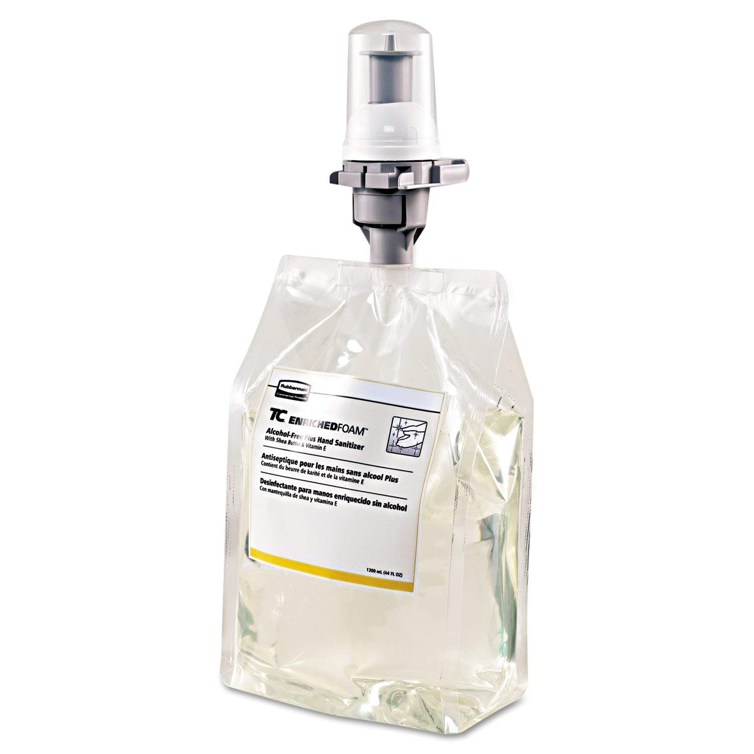 Rubbermaid 3486579 Enriched Foam Alcohol-Free Plus Hand Sanitizer E3, 1300mL Refill (Pack of 3)