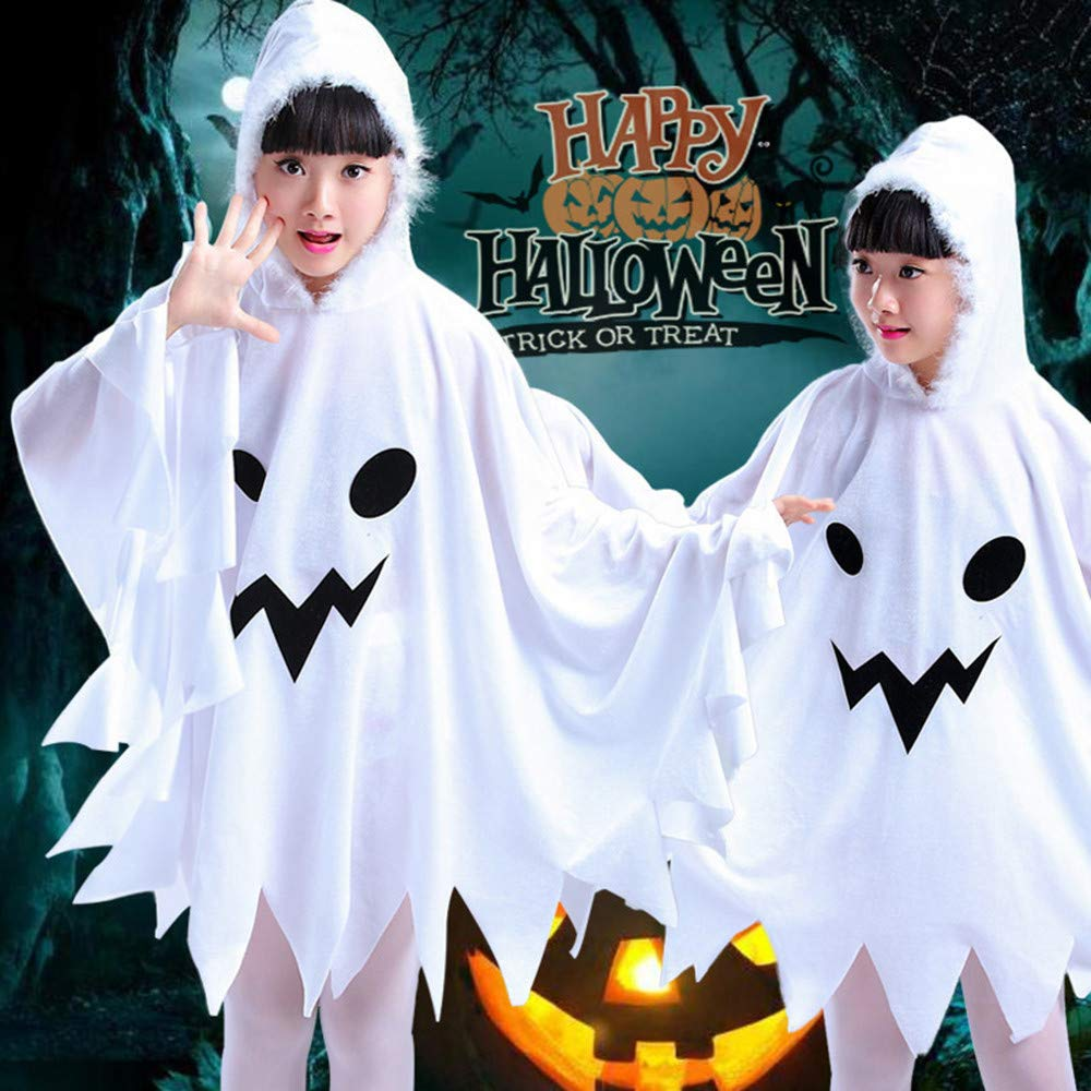 WARMSHOP Kids Toddler Girls Halloween Clothes Cosplay Ghost Costume Dress Party Hoodie Cloak Outwear Cloth