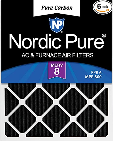 Nordic Pure 14x25x1 MERV 13 Pleated AC Furnace Air Filters 6 Pack