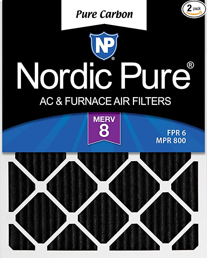 Nordic Pure 16x22x1 Exact MERV Tru Mini Pleat AC Furnace Air Filters 12 Pack