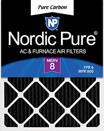 2 Pack 2 Piece Nordic Pure 12x30x1 MERV 10 Pleated AC Furnace Air Filters