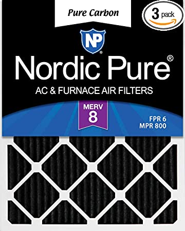 Nordic Pure 20x22x1 Exact MERV 12 Pleated AC Furnace Air Filters 3 Pack