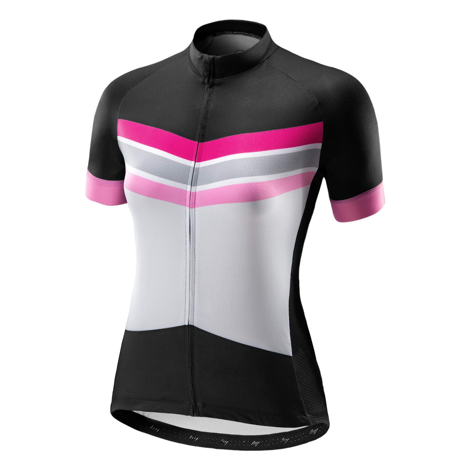 Beory Womens Cycling Jerseys with Short Sleeves,Girls Bike Short Sleeves with Three Pockets(S Pink) by beroy