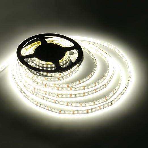 Ledmo led strip light smd2835 dc12v white 6000k 600leds led strip ledmo led strip light smd2835 dc12v white 6000k 600leds led strip lights 5m15lmled aloadofball Images