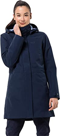 Jack Wolfskin Ottawa Damesjas, waterdichte 3 in 1 jas: Amazon.nl