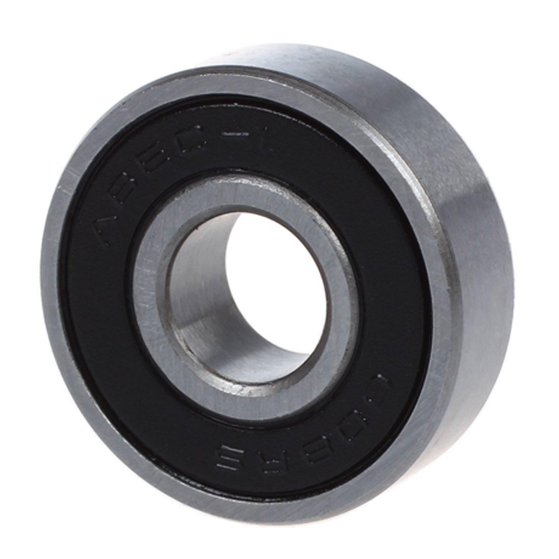 Globalflashdeal 5x Tone Argent et Noir ecran gorge profonde roulements a billes 8x22x7mm 608