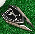 DAD Engraved Golf Gift Divot Tool and Ball Marker (Black) - Dad Personalized Gift, Dad Birthday Gift, Gift for Dad, Gift for Him