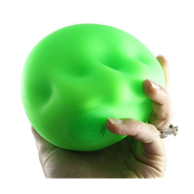 "Curious Minds Busy Bags 1 Jumbo 4"" Doh Stress Stretch Ball - Moldable Pinch Poke Sensory Fidget Toy Doughy (Random Color: Toys & Games"
