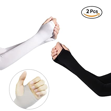 5 Pairs New Arm Sleeves Sun Uv Protection Arm Warmer Sleeves Half Finger Long Gloves Cuff Arm Sleeves Women Men Free Shipping Men's Arm Warmers Men's Accessories