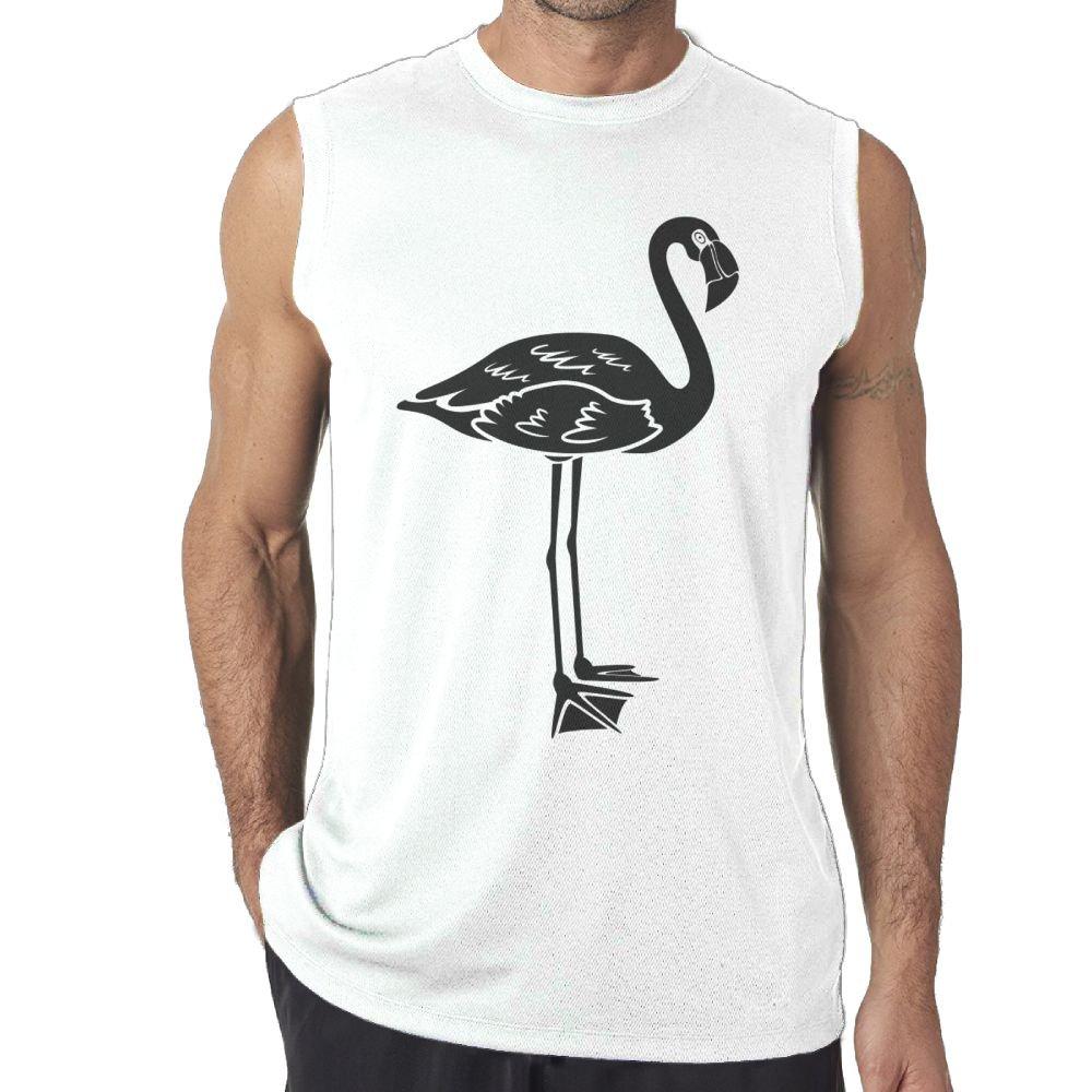 Tanks Top Sleeveless T-Shirts Fit Mens Black Flamingo Casual
