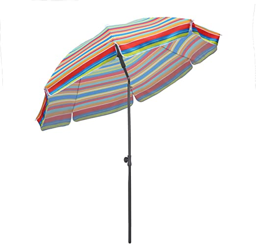 Sekey® Sombrilla Ø 200 cm Parasol para terraza jardín Playa balcón ...