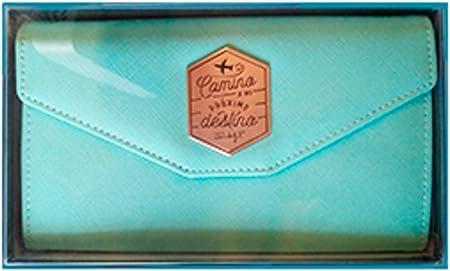 Mr. Wonderful Portadocumentos de Viaje Camino a mi próximo Destino, Piel, Multicolor, 11.7x20x3.6 cm: Amazon.es: Hogar