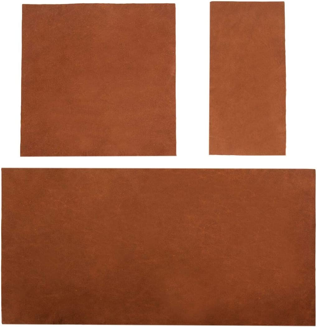 3 x 6 in. Rustic Leather Rectangles :: Charcoal Black Heavy Weight 8 Piece Set for Crafts//Tooling//Hobby Workshop 1.6-1.8mm Hide /& Drink