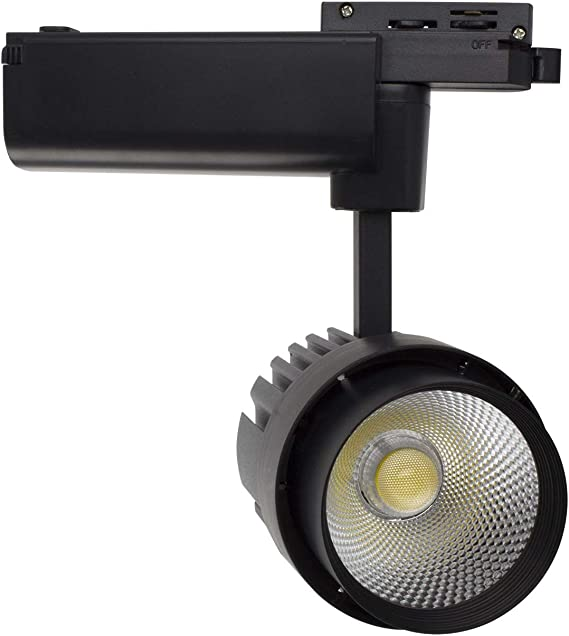 Iluminacion de Comecial ONSSI LED Foco de Carril LED COB 30W Monof/ásico Blanco Neutro 4000k-4500k Alta Luminosidad Foco Led de Techo