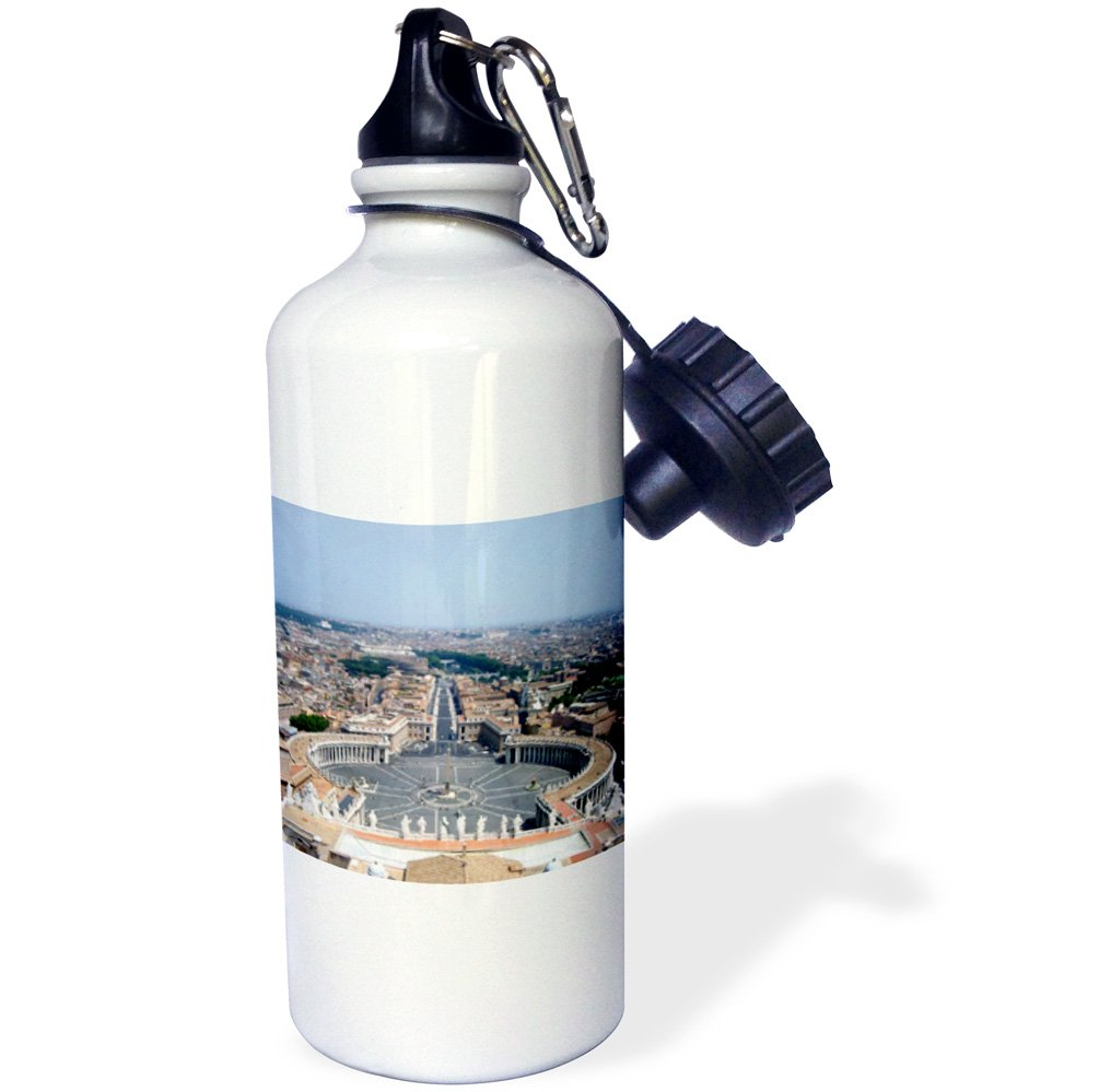 3dRose wb/_1308/_1The Vatican Square Sports Water Bottle 21 oz White