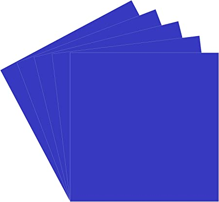 Amazon Com 5 Brilliant Blue Oracal 651 Vinyl Sheets 12x12 Permanent Adhesive Backed Vinyl Sheets Craft Vinyl For Indoor Outdoor Lettering Marking Decorating Car Decals Window Graphics Home Decor Sticker Arts Crafts Sewing