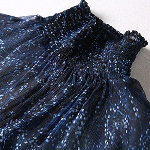 Langarm Honghu Perspective Garn Damen Sexy Schleuder Dress Party Cocktailkleider SrI7rEqxw