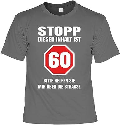 Geschenk Zum 60 Geburtstag T Shirt Mit Aufdruck Stopp Dieser Inhalt