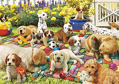Buffalo Games - Adorable Animals - Puppy Playground - 300 Large Piece Jigsaw Puzzle ()