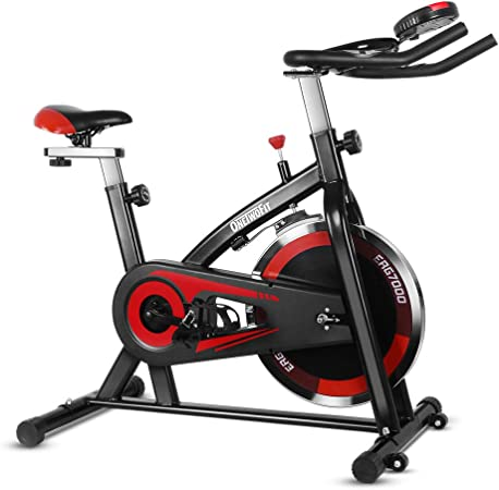Display a LED per utilizzo in Palestra o a casa ONETWOFIT Cyclette da Spinning Bike Indoor Cyclette Training Fitness con Manubrio e sellino Regolabili