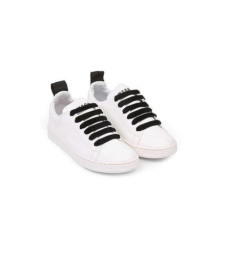 MSGM Scarpe Junior 011051 Unisex Sneaker Pelle Bianca fw 17 18 ... 9fcef1e4cae