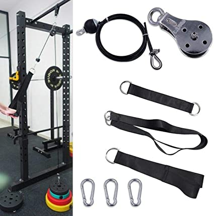 Lat Pulldown Home Gym Pulley Cable Attachment Biceps Triceps Blasters Bar Handle