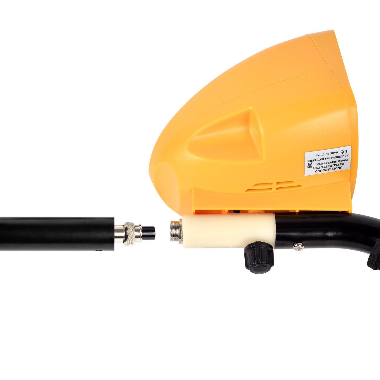HOOMYA Detectores de Metal Ligero para Adultos, Tallo Ajustable y Cazador de Tesoros DE 8, 2 Pulgadas con Pantalla LCD Display-3010: Amazon.es: Jardín
