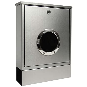 Radius Letterman radius letterman mini letter box with newspaper holder stainless