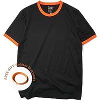 dbf466972 Zengjo Ringer Tee Men's Crew Neck Athletic T Shirts Short Sleeve Tops for  Men