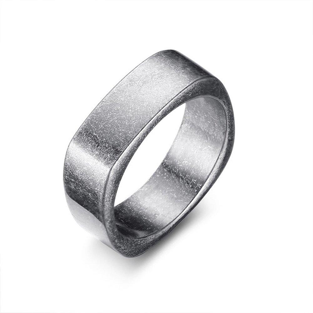 Jajafook 7mm Ancient Silver Ring For Men Vintage Punk Grey Stainless Steel Rings Wedding Bandamazon: Ancient Christian Wedding Rings At Reisefeber.org