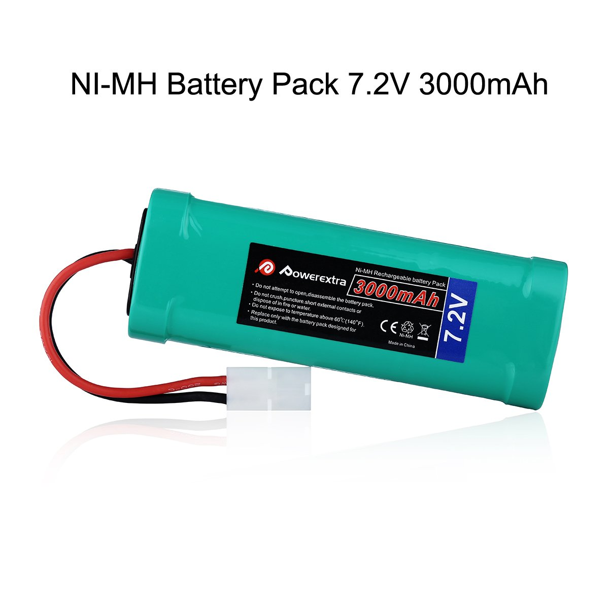 Powerextra 72v 3000mah High Power Rechargeable Nimh 12v Nicad Battery Charger 200ma H Pack Low Self Discharge With Ket Connectors Compatiable Rc Cars Truck
