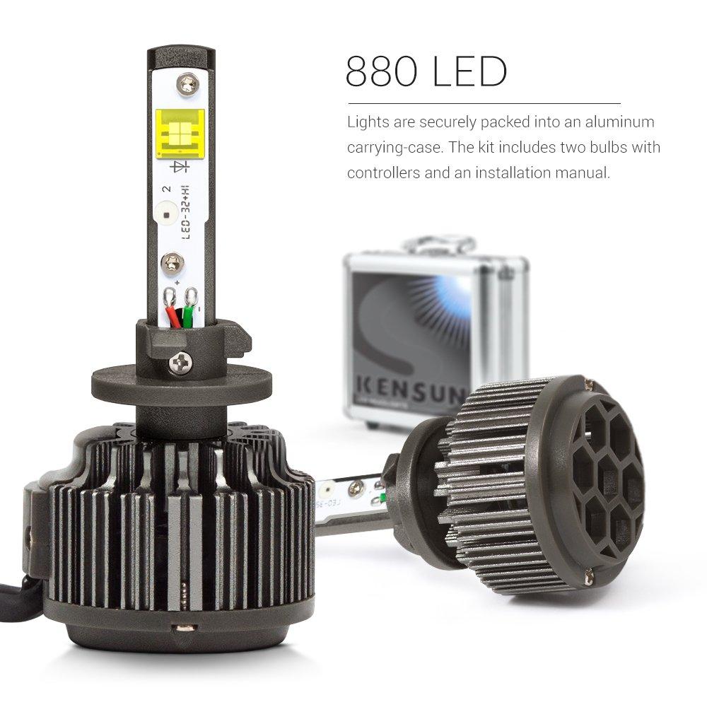 amazon com: kensun super bright extreme eti led headlight conversion kit -  880: automotive