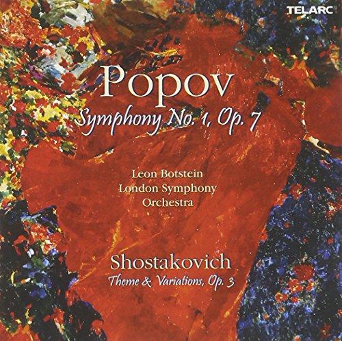 Popov: Symphony No. 1, Op. 7 / Shostakovich: Theme & Variations, Op. 3 (Popov Symphony compare prices)