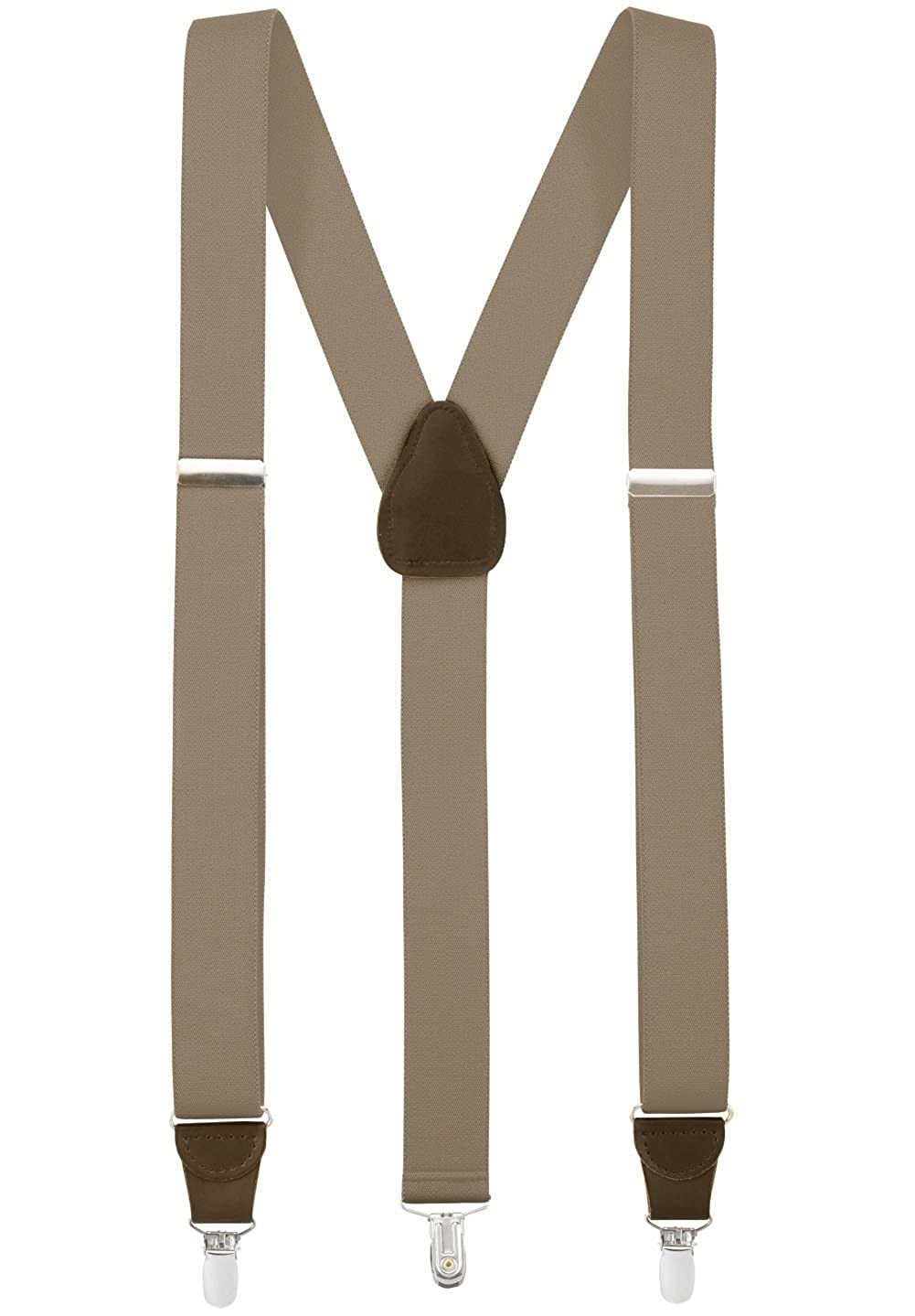 Hold'Em Suspender for Men Made in USA Y-Back Genuine Leather Crosspatch Clip on tuxedo suspenders Many Colors Available