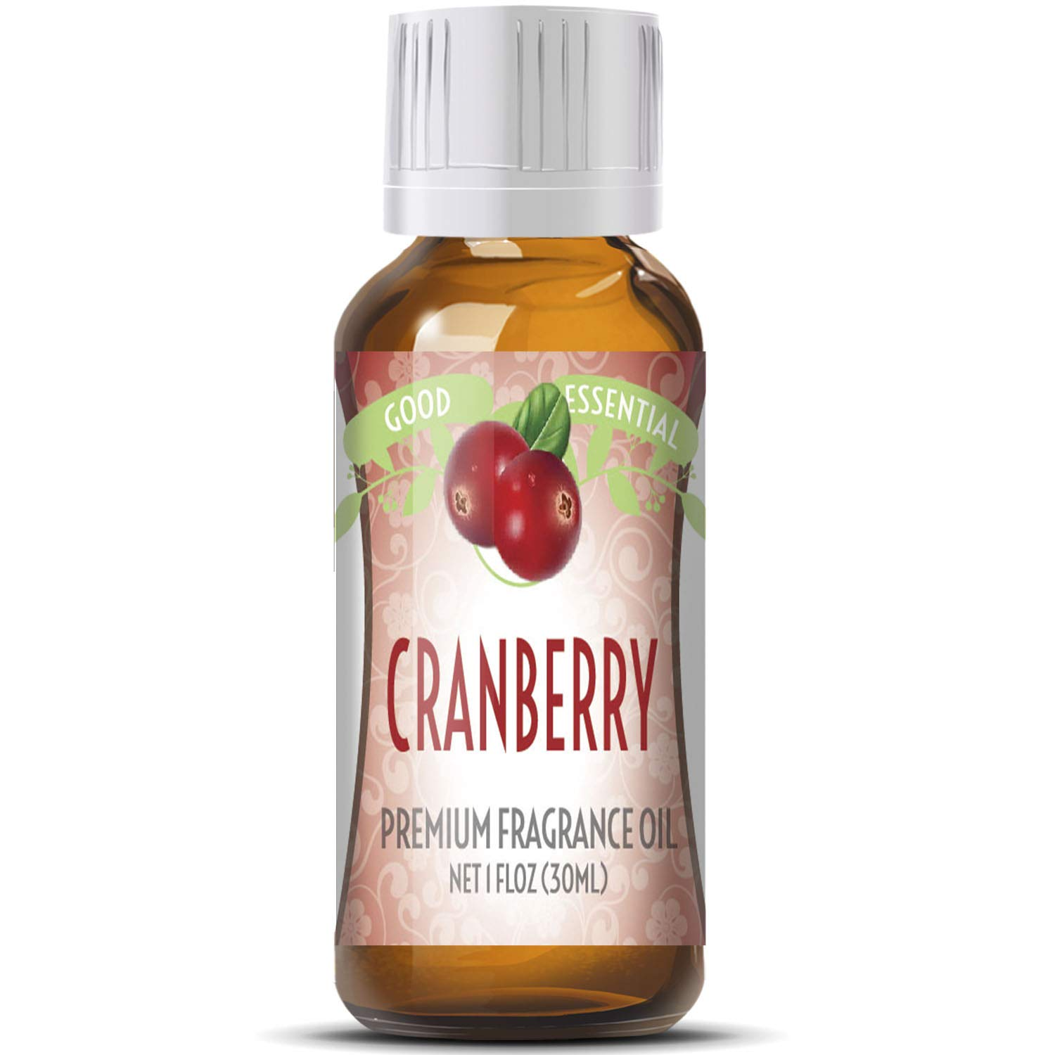 Cranberry Scented Oil by Good Essential (Huge 1oz Bottle - Premium Grade Fragrance Oil) - Perfect for Aromatherapy, Soaps, Candles, Slime, Lotions, and More!