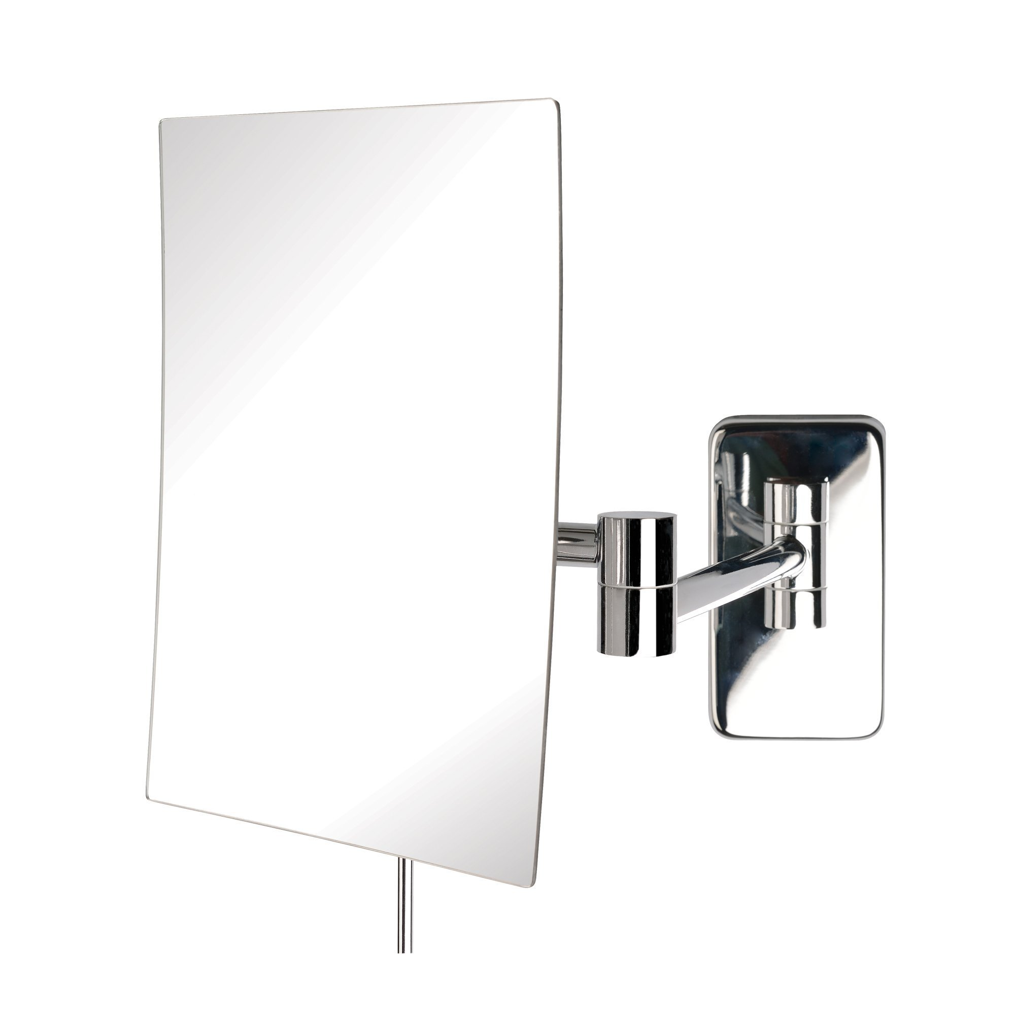 Jerdon JRT695C 6.5-Inch by 8.75-Inch Wall Mount Rectangular Makeup Mirror, Chrome Finish by Jerdon