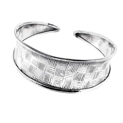 2c9d94c63a770 TreasureBay Unique Chunky 925 Sterling Silver Bangle Bracelet for ...