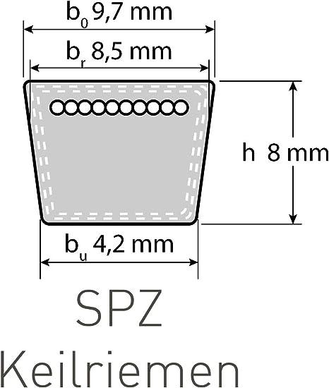 Schmalkeilriemen SPZ 2000 Lw AV 10//9,5 x 2013 La ummantelt V-Belt