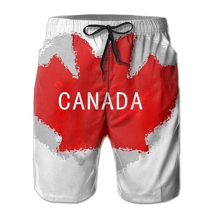 74121e767c TO-JP Men's 3D Printing Beach Shorts Canada Swim Trunks | Amazon.com