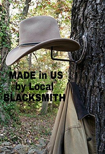 New Shoes, Horseshoe Cowboy Hat & Coat Rack, Blacksmith Made, Real Horseshoes by Gold-N-Blacksmith