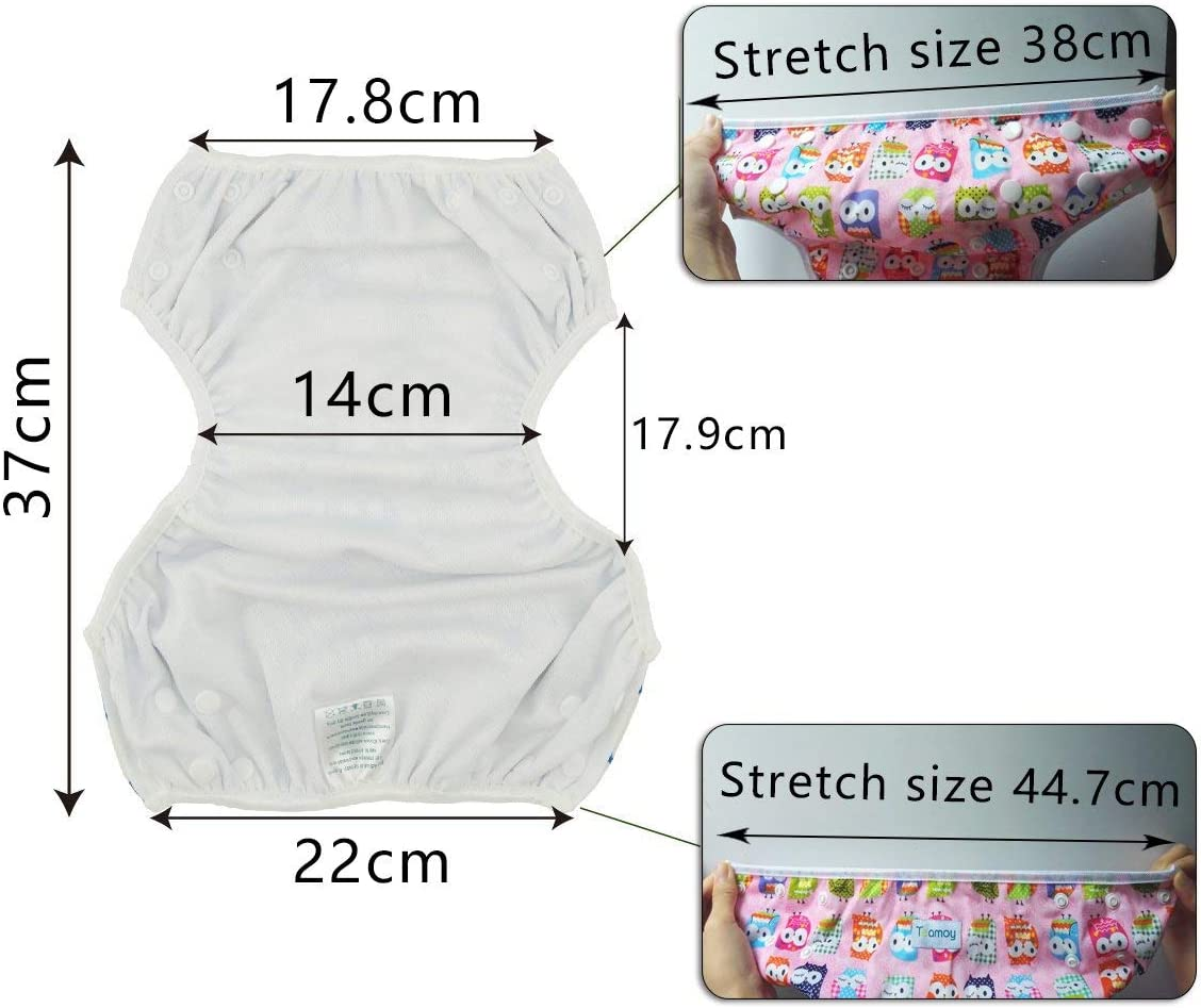 2 Paquets Sourire Teamoy Couches de bain lavables pour B/éb/é Pantalon de Couche en Tissu pour Gar/çons et Filles Avion