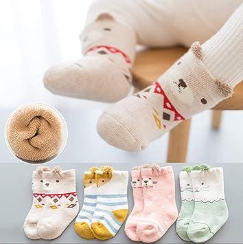 CMDDYY Calcetines de bebé, otoño e Invierno algodón 1 año de ...