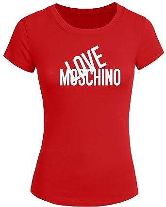 innovative design a6626 19029 Maglietta 2016 da donna con stampa in lingua inglese Love Moschino, t-shirt  a maniche corte